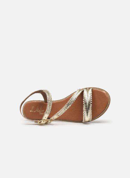Sandales et nu-pieds L'Atelier Tropézien SB902 Or et bronze vue gauche