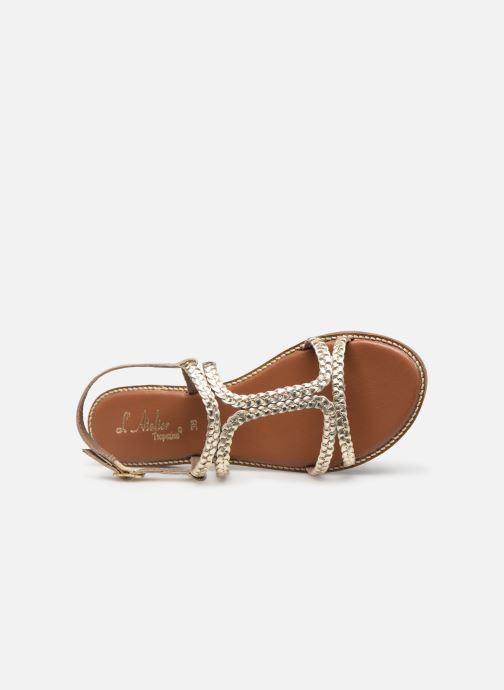 Sandales et nu-pieds L'Atelier Tropézien SB907 Or et bronze vue gauche