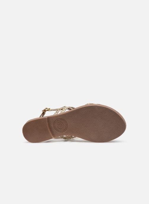 Sandales et nu-pieds L'Atelier Tropézien SB907 Or et bronze vue haut