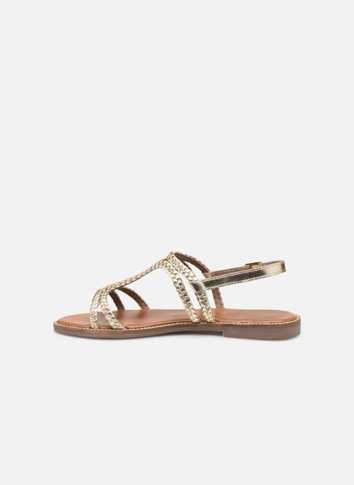 Sandales et nu-pieds L'Atelier Tropézien SB907 Or et bronze vue face