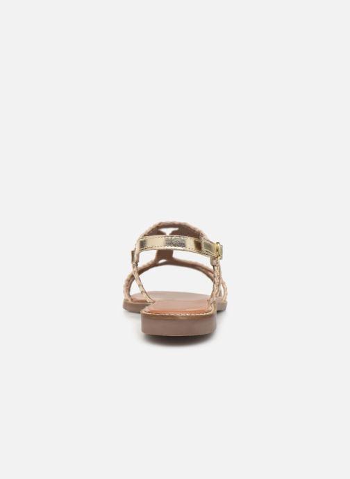 Sandales et nu-pieds L'Atelier Tropézien SB907 Or et bronze vue droite