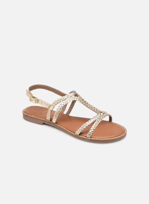 Sandales et nu-pieds L'Atelier Tropézien SB907 Or et bronze vue détail/paire