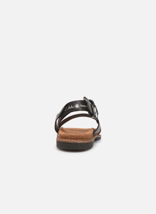 Sandali e scarpe aperte L'Atelier Tropézien MG5473 Nero immagine destra