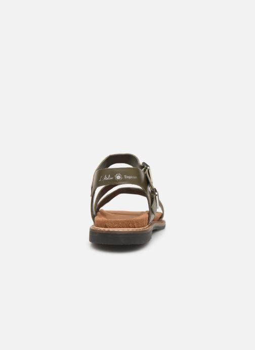 Sandales et nu-pieds L'Atelier Tropézien MG6011 Vert vue droite