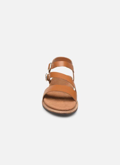 Sandali e scarpe aperte L'Atelier Tropézien MG6011 Marrone modello indossato