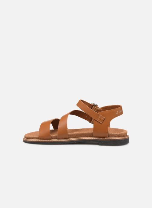 Sandales et nu-pieds L'Atelier Tropézien MG6011 Marron vue face