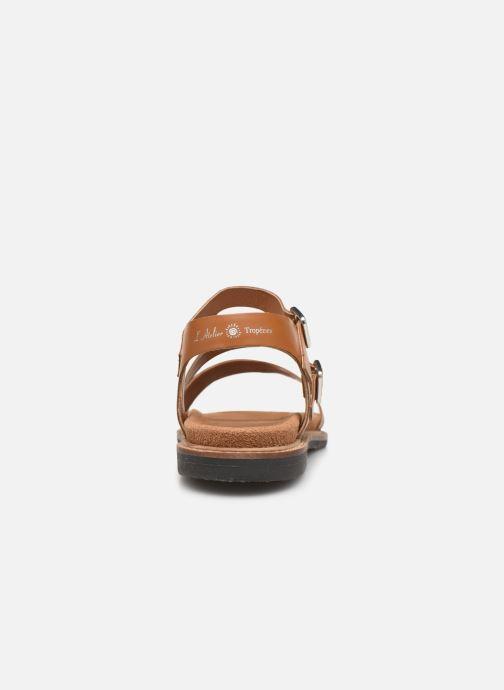 Sandales et nu-pieds L'Atelier Tropézien MG6011 Marron vue droite