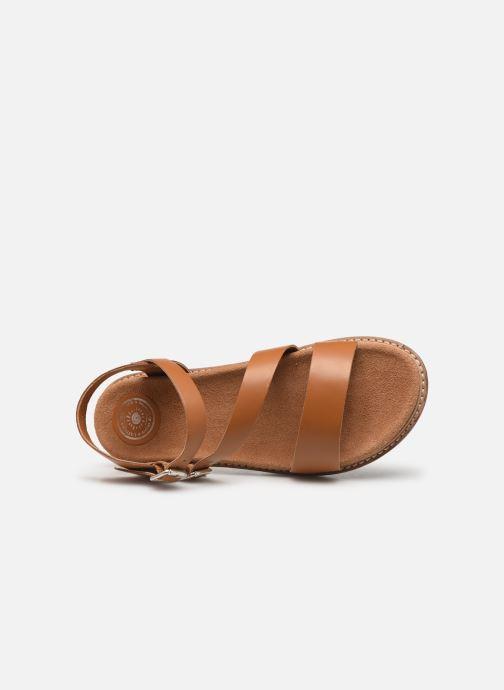 Sandales et nu-pieds L'Atelier Tropézien MG6011 Marron vue gauche