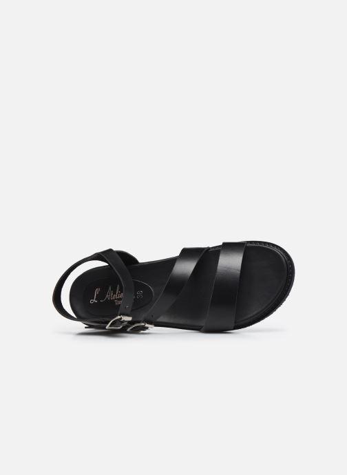 Sandali e scarpe aperte L'Atelier Tropézien MG6011 Nero immagine sinistra