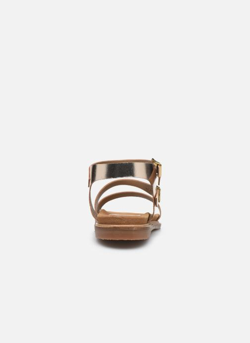 Sandali e scarpe aperte L'Atelier Tropézien MG6011 Oro e bronzo immagine destra