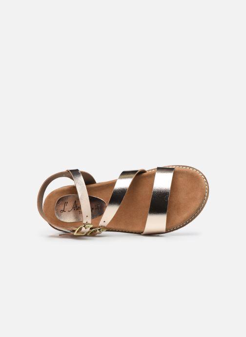 Sandali e scarpe aperte L'Atelier Tropézien MG6011 Oro e bronzo immagine sinistra