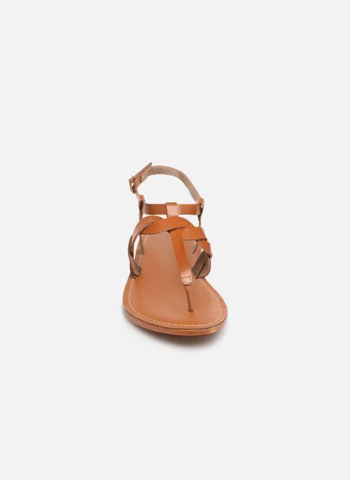 Sandales et nu-pieds L'Atelier Tropézien SH666 Marron vue portées chaussures