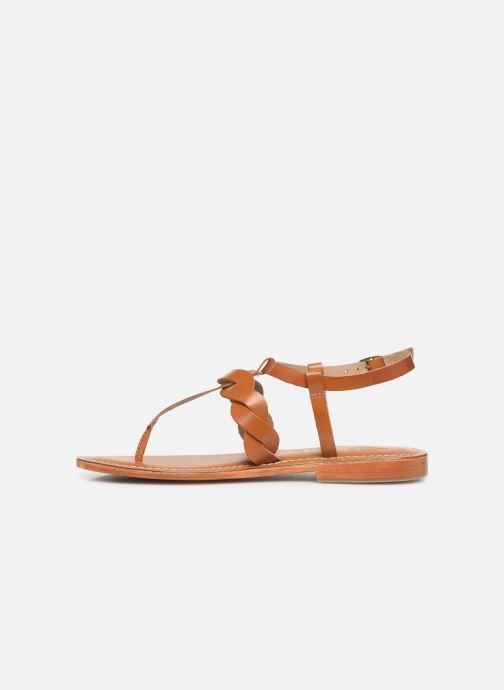 Sandals L'Atelier Tropézien SH666 Brown front view
