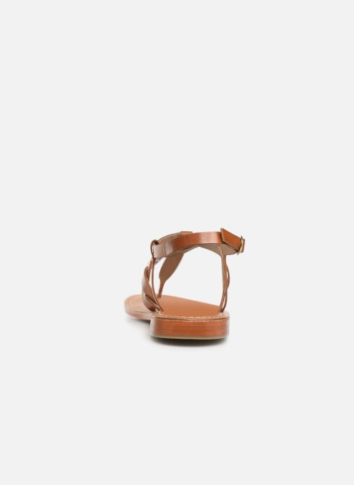 Sandals L'Atelier Tropézien SH666 Brown view from the right