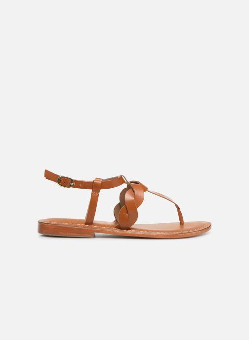 Sandals L'Atelier Tropézien SH666 Brown back view