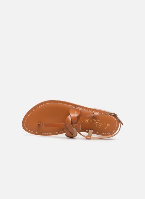 Sandales et nu-pieds L'Atelier Tropézien SH666 Marron vue gauche