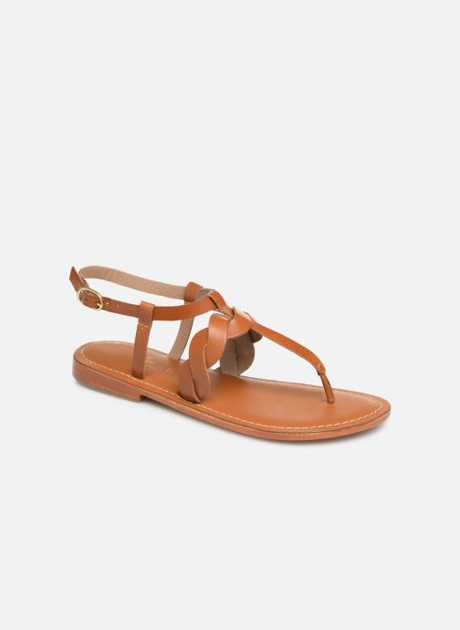 Sandals L'Atelier Tropézien SH666 Brown detailed view/ Pair view