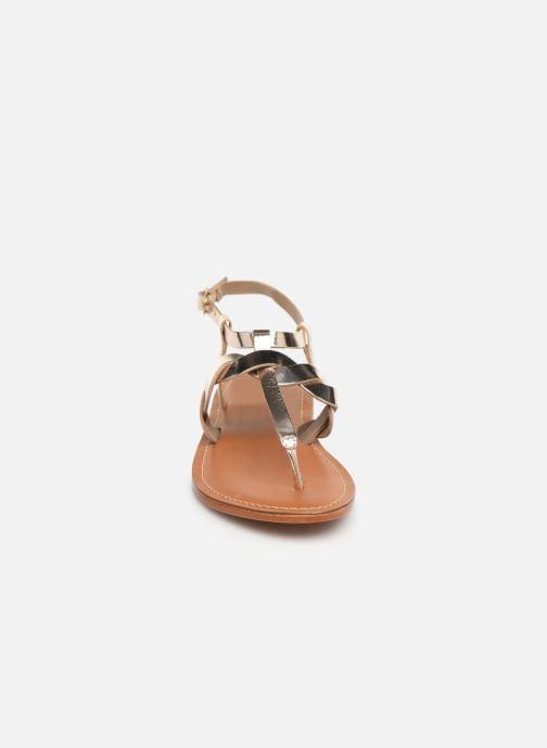 Sandales et nu-pieds L'Atelier Tropézien SH666 Or et bronze vue portées chaussures