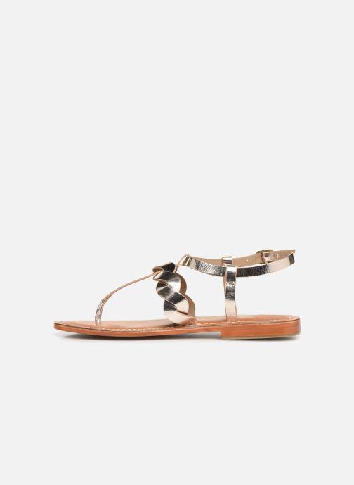 Sandales et nu-pieds L'Atelier Tropézien SH666 Or et bronze vue face