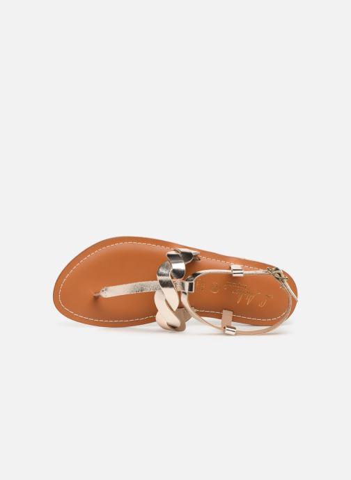 Sandales et nu-pieds L'Atelier Tropézien SH666 Or et bronze vue gauche