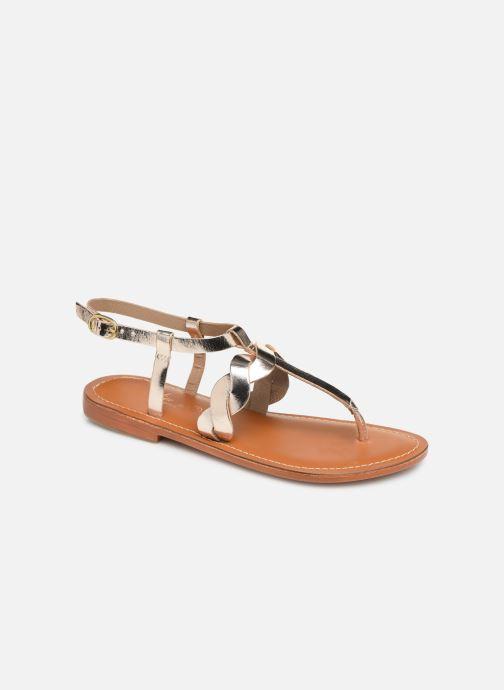 Sandales et nu-pieds L'Atelier Tropézien SH666 Or et bronze vue détail/paire