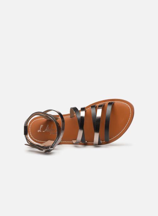Sandalen L'Atelier Tropézien SH09 Zwart links