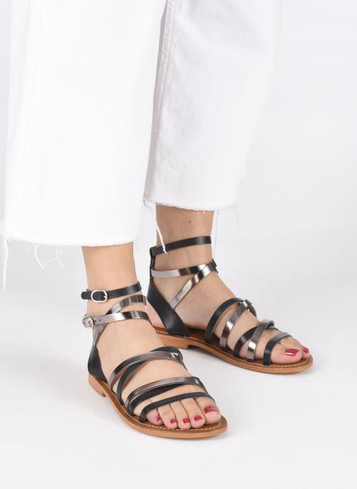 Sandales et nu-pieds L'Atelier Tropézien SH09 Argent vue bas / vue portée sac