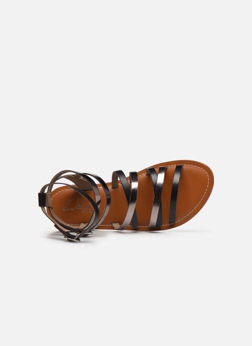 Sandales et nu-pieds L'Atelier Tropézien SH09 Argent vue gauche