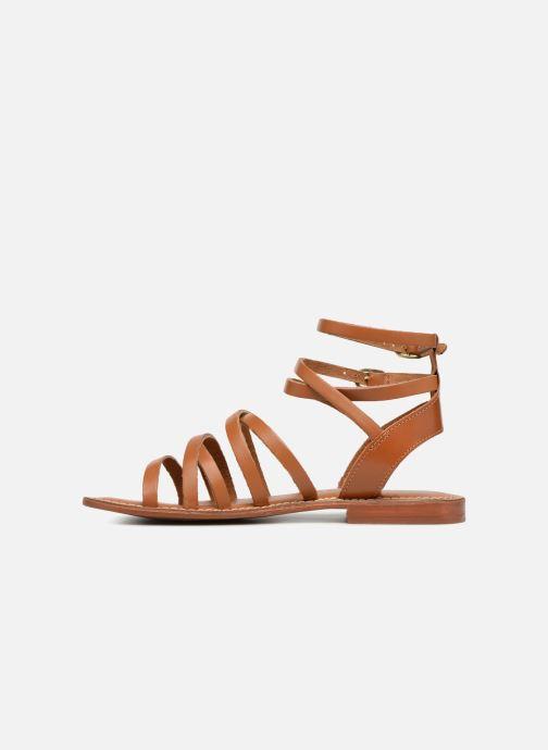 Sandales et nu-pieds L'Atelier Tropézien SH09 Marron vue face