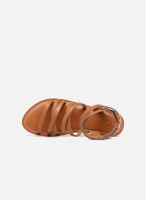 Sandales et nu-pieds L'Atelier Tropézien SH09 Marron vue gauche
