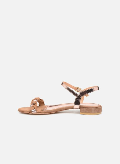 Sandali e scarpe aperte L'Atelier Tropézien SH669 Marrone immagine frontale