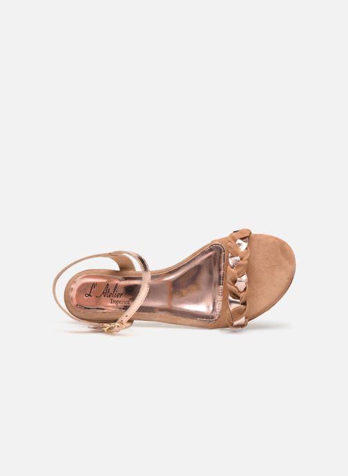 Sandali e scarpe aperte L'Atelier Tropézien SH669 Marrone immagine sinistra