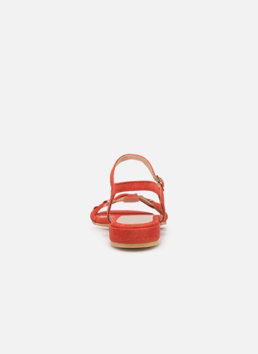 Sandali e scarpe aperte L'Atelier Tropézien SH669 Rosso immagine destra