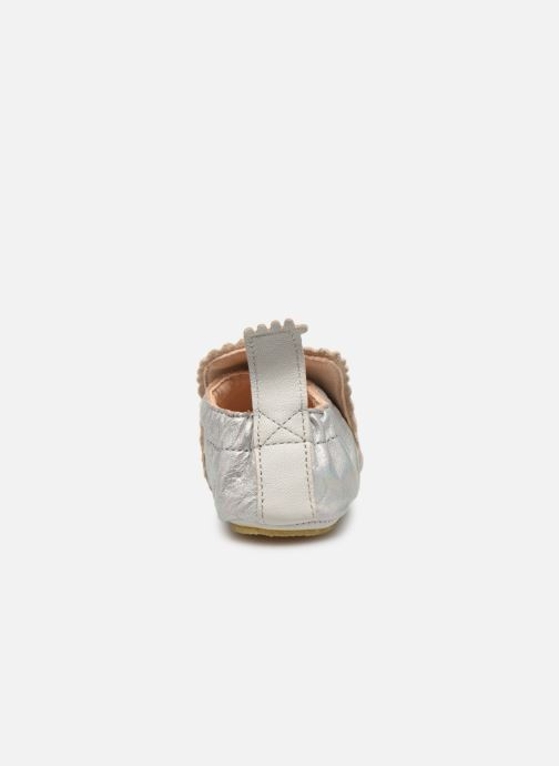 Chaussons Easy Peasy Croqblu Argent vue droite
