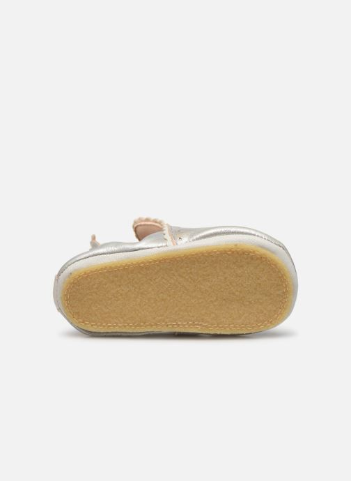 Chaussons Easy Peasy Croqblu Argent vue haut