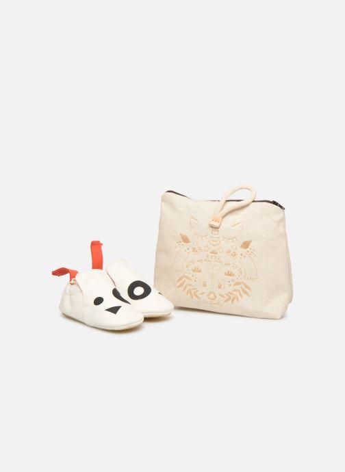 Chaussons Easy Peasy Blublu Panda Blanc vue détail/paire