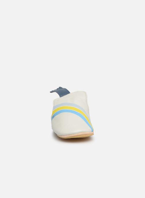 Pantuflas Easy Peasy Blublu Rainbow Azul vista del modelo