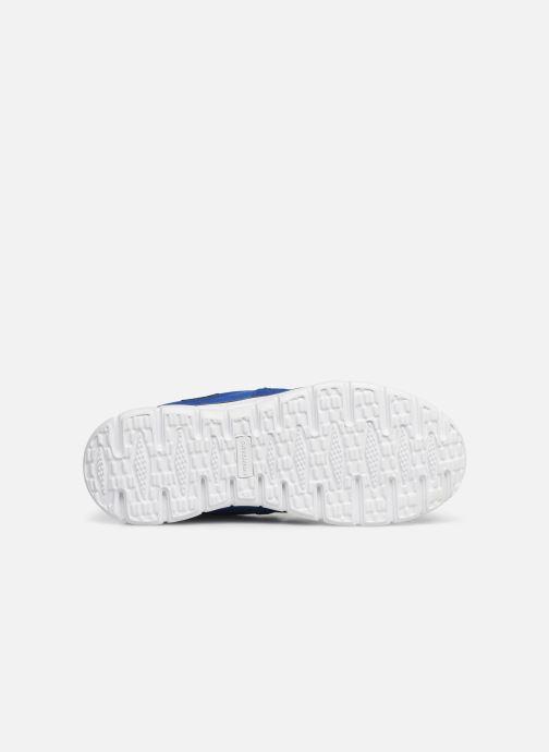 Baskets Skechers Vim/Turbo Ride Bleu vue haut
