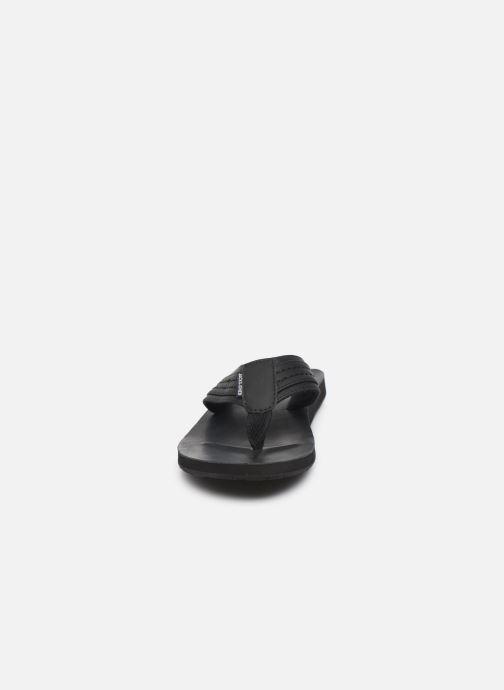 Tongs Jack & Jones Jfwbob Leather Gris vue portées chaussures