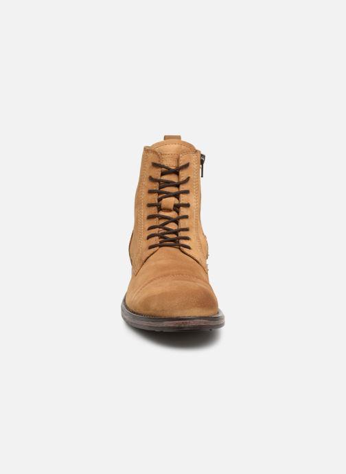 Bottines et boots Jack & Jones JFWRUSSEL Suede Beige vue portées chaussures