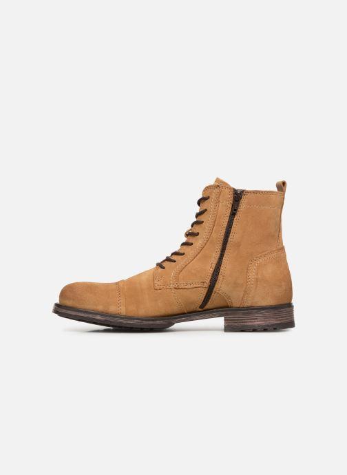 Bottines et boots Jack & Jones JFWRUSSEL Suede Beige vue face