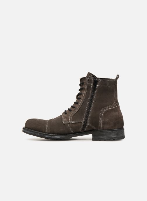 Bottines et boots Jack & Jones JFWRUSSEL Suede Noir vue face