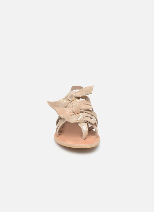 Sandales et nu-pieds Georgia Rose Kindra Or et bronze vue portées chaussures
