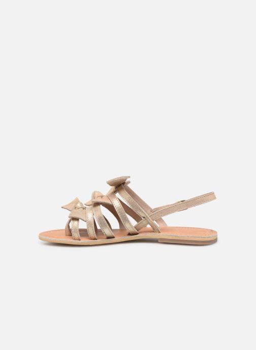 Sandales et nu-pieds Georgia Rose Kindra Or et bronze vue face