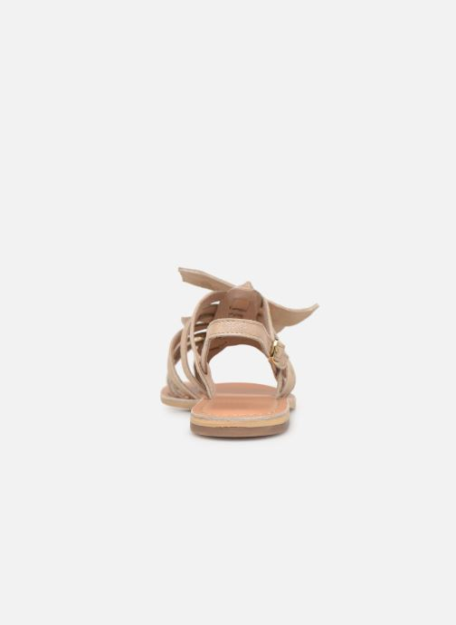 Sandales et nu-pieds Georgia Rose Kindra Or et bronze vue droite