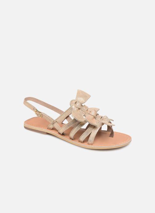 Sandales et nu-pieds Georgia Rose Kindra Or et bronze vue détail/paire