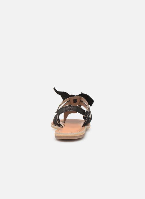 Sandales et nu-pieds Georgia Rose Kindra Noir vue droite