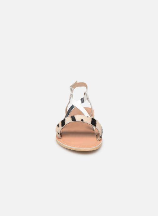 Sandales et nu-pieds Georgia Rose Kacia Argent vue portées chaussures