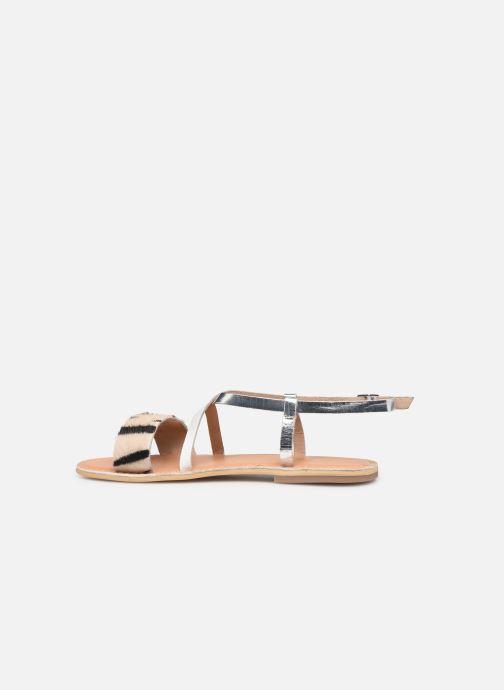 Sandales et nu-pieds Georgia Rose Kacia Argent vue face