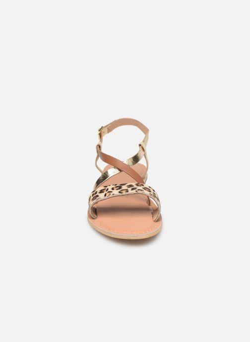 Sandales et nu-pieds Georgia Rose Kacia Or et bronze vue portées chaussures